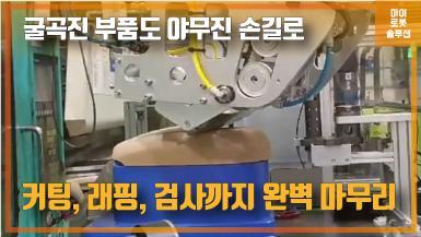 덴소 로봇을 활용한 자동차 부품 보호랩 부착 및 검사 썸네일